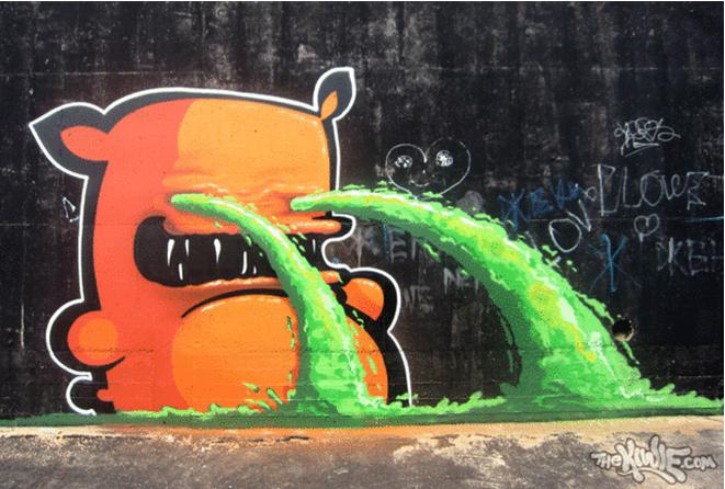 Kiwie Street Art Clutter Magazine