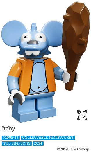 Itchy LEGO Minifigure