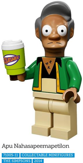 Apu Nahasapeemapetilon LEGO Minifigure