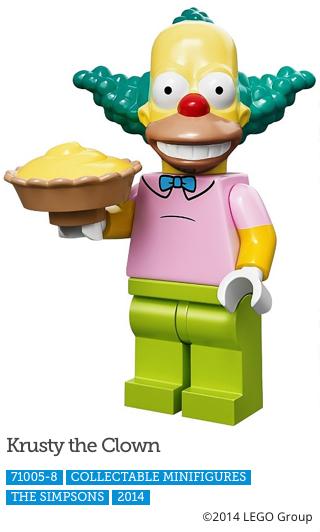Krusty The Clown LEGO Minifigure