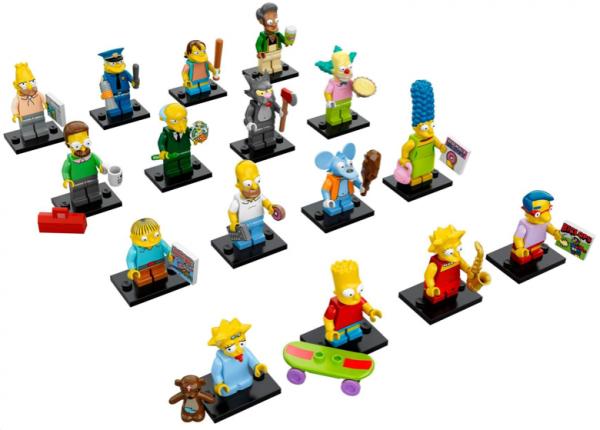 Simpsons Minifigures Lineup
