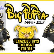 Ron English x Clutter presents:  Big Poppa Black and Gold Tenacious Toys Exclusive!!