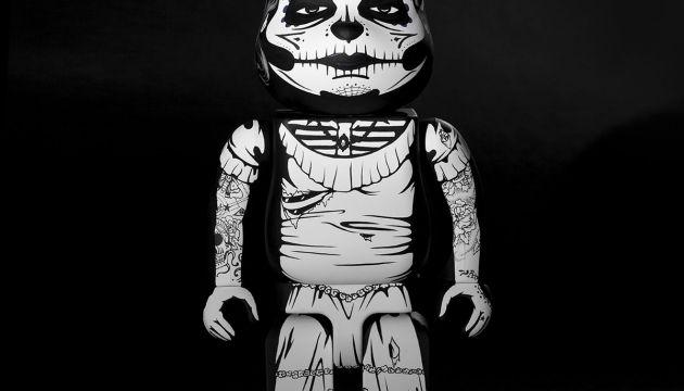 Custom Dia de los Muertos Be@rbrick by JPK