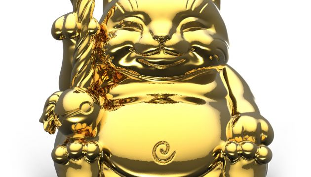 Surprise Chrome Gold Maitreya Cat by Mighty Jaxx