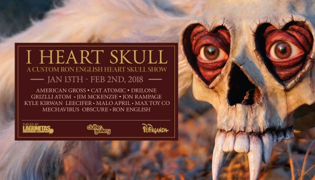 Clutter Gallery Presents: I Heart Skull!