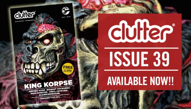 Clutter Magazine Issue 39 SDCC 2016 featuring James Groman x Instinctoy