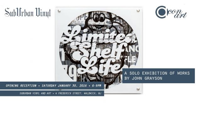 "Con Art's ""Limited Shelf Life"" Exhibition at SubUrban Vinyl!"