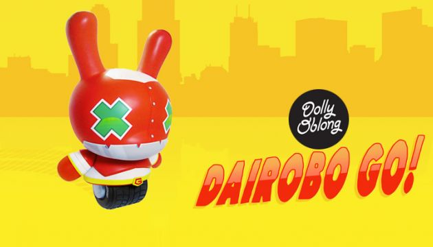 "Dolly Oblong's ""Dairobo Go!"" custom 20"" Dunny!"