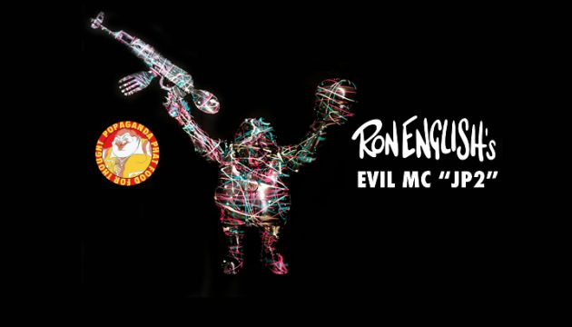 "Ron English's ""Evil MC 'JP2'"" custom by Chop for DCon!"