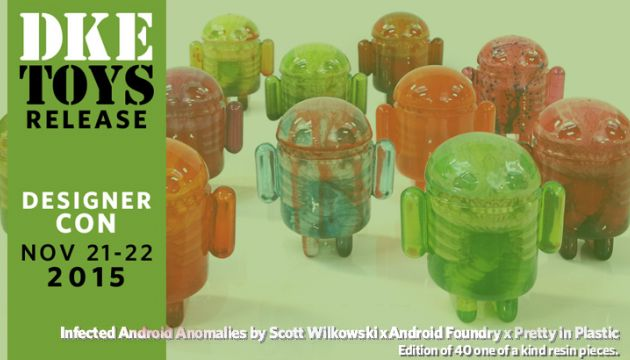 """Scott Wilkowski's """"Infected Android Anamolies""""for DCon!"""