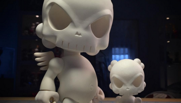 Mini Skullhead Blank DIY Platform Resin Toy by Huck Gee