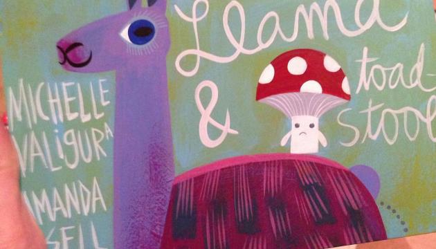 WIP: Llama & Toadstool by Amanda Visell & Michelle Valigura