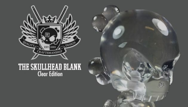 Clear Skullhead Blank Resin DIY Figure by Huck Gee