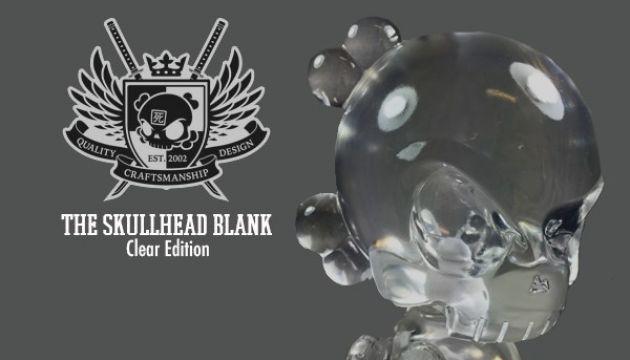 Clear Skullhead Blank Resin DIY Figure by Huck Gee