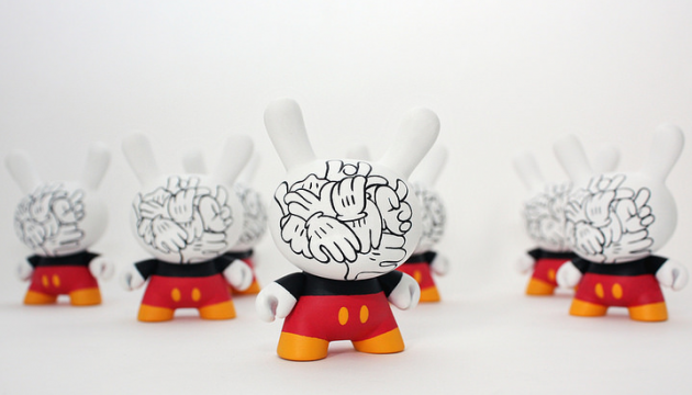 Mickey Messy Custom Dunnys by WuzOne
