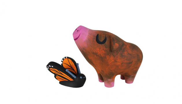 Amanda Visell & Michelle Valigura Pig and Butterfly