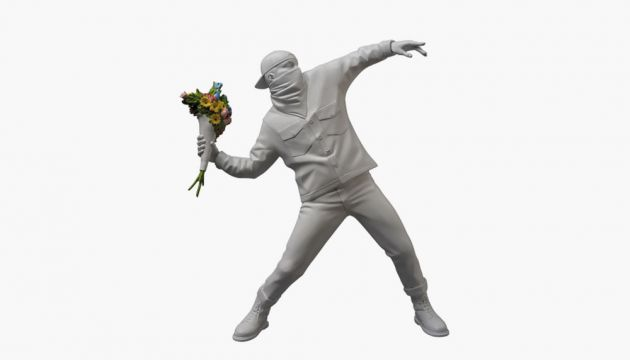 Medicom x Banksy's Flower Thrower Vinyl Art Toy