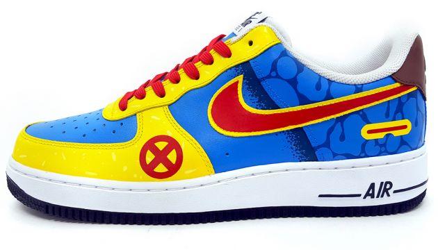 Custom Cyclops Nike Air Force 1 Low Sneakers by Sekure D