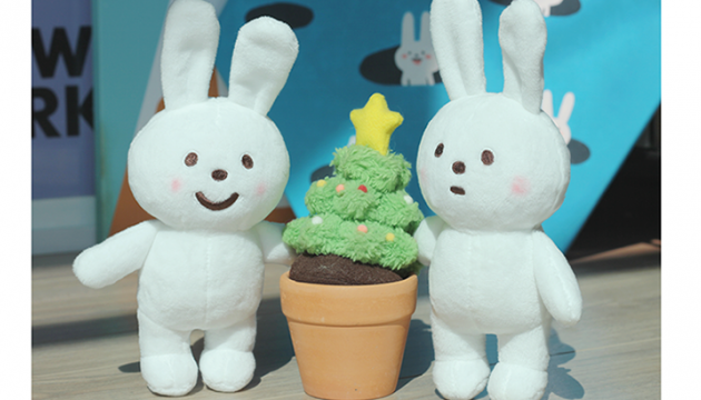 Fluffy House Naughty Rabbit Plush Pair