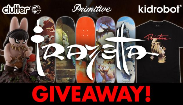 The Ultimate Frazetta Giveaway: Primitive x Kidrobot x Clutter!