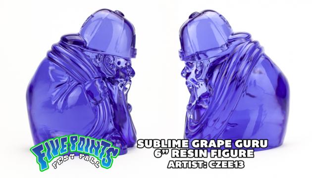 """SUBLIME GRAPE GURU 6"""" RESIN RELEASE - By Czee x Clutter Studios."""