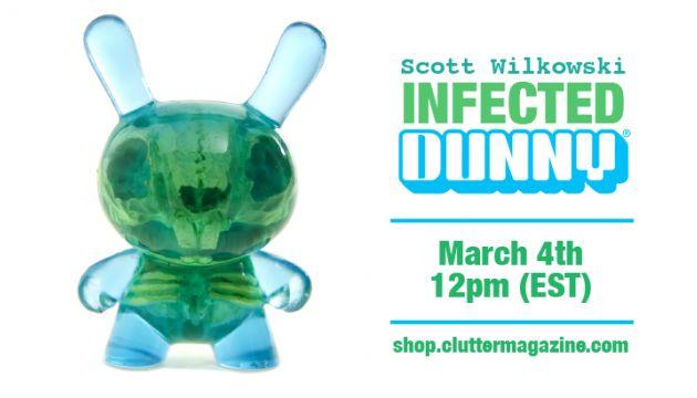 Scott Wilkowski x Clutter x Kidrobot; INFECTED DUNNY - Blue & Green Colorway!