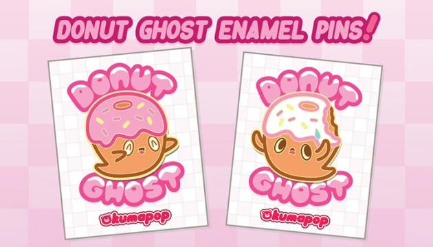 Kumapop Donut Ghost Enamel Pins Kickstarter