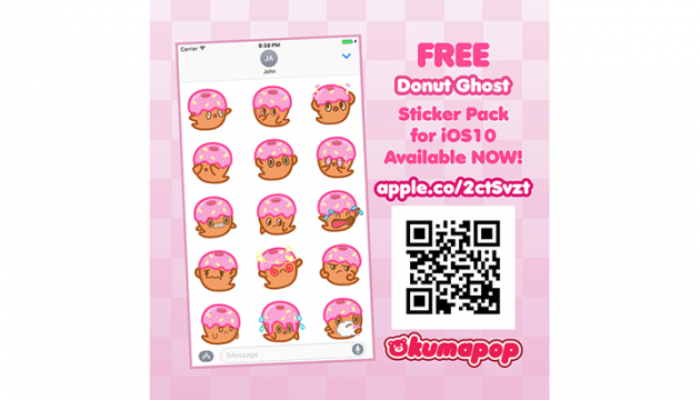 Kumapop Donut Ghost Stickers for iOS10