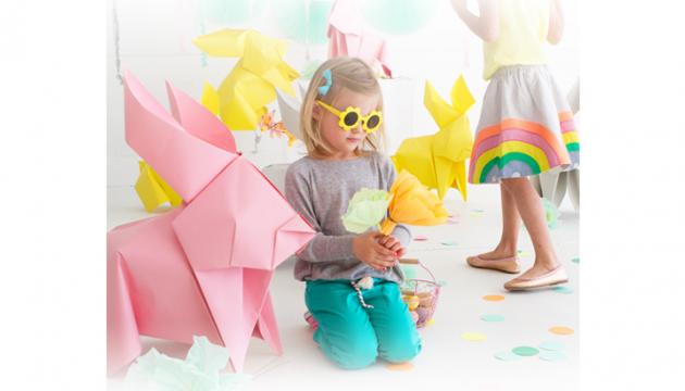 Giant Origami Bunnies