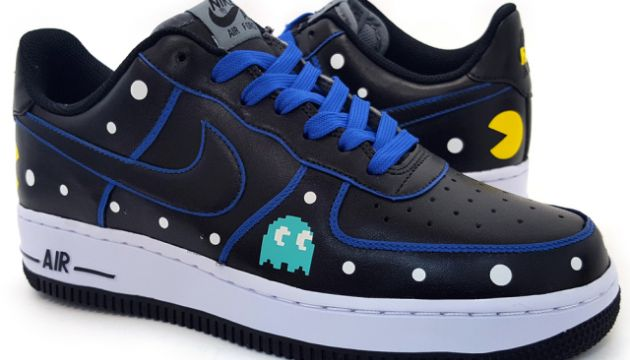 Custom Pac-Man Nike Air Force 1 Low Sneakers by Sekure D