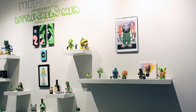 Little Green Men at Mothership Gallery Roundup