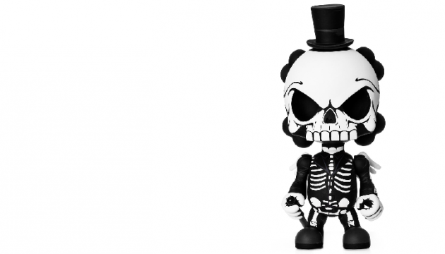 SpectreHead Huck Gee Skullhead Blank Custom Toy by JPK