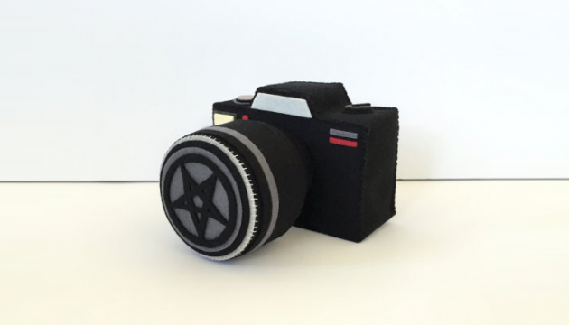 Plush Say Cheese and Die Camera by Steff Bomb