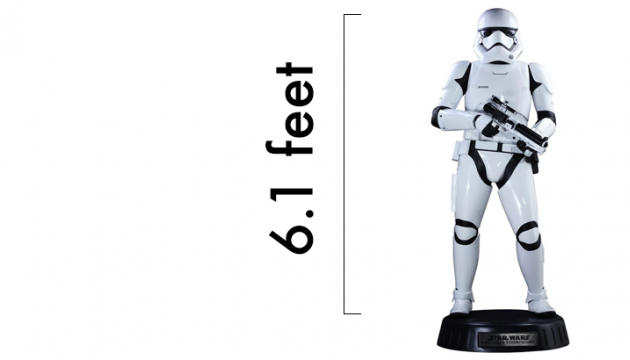 Life-sized Stormtrooper by Hot Toys