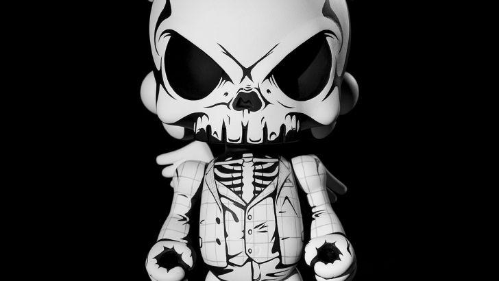 The Parochial Punk Custom Huck Gee Blank Resin Designer Toy by JPK