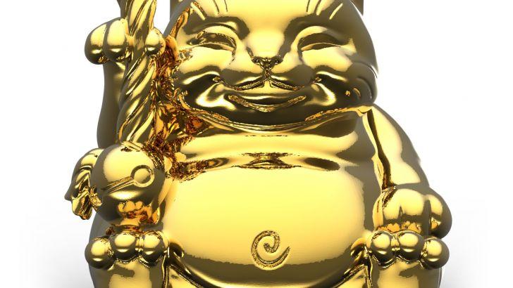 Surprise Chrome Gold Maitreya Cat by Mighty Jaxx