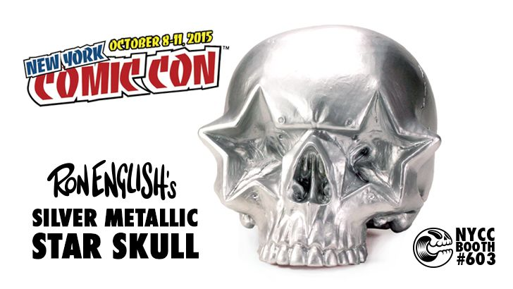 Ron English's Metallic Silver Star Skull for Clutter Magazine's NYCC Booth