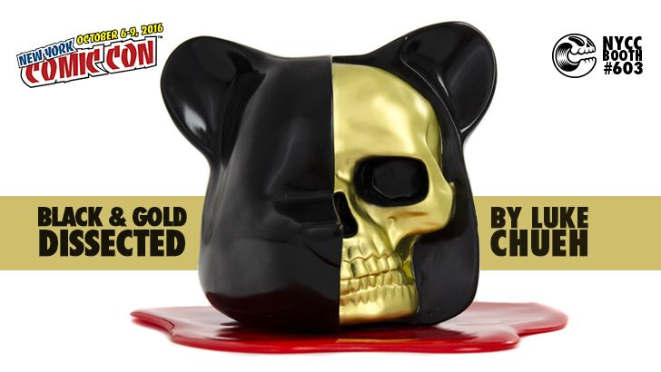 NYCC 16 EXCLUSIVE: LUKE CHUEH BLACK & GOLD DISSECTED BEAR HEAD