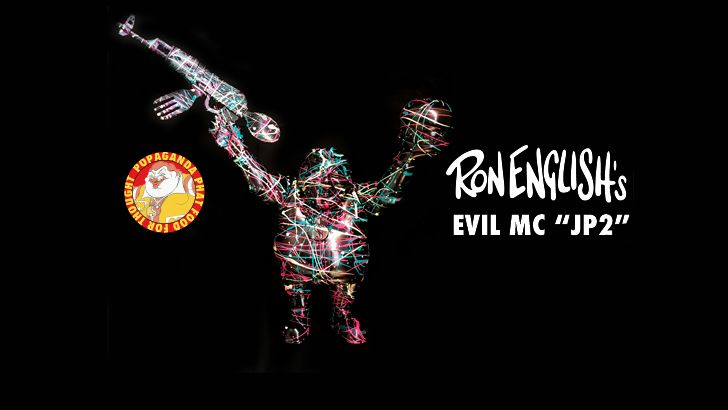 "Ron English's ""Evil MC 'JP2'"" custom by Chop for DCon!"