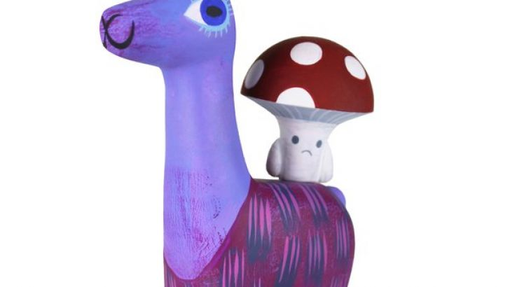 Llama & Toadstool Resin Set by Amanda Visell & Michelle Valigura Now Available