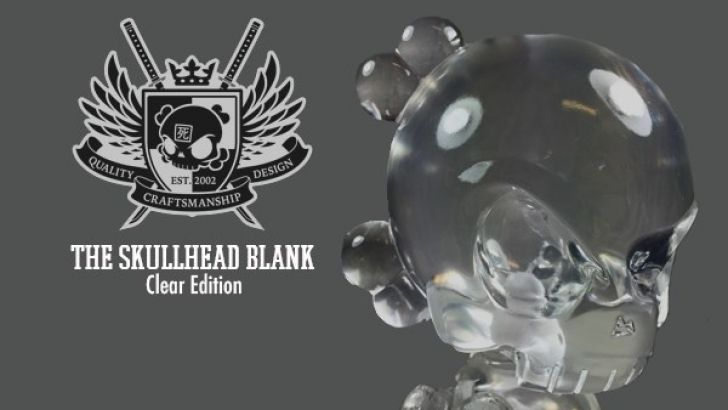Huck Gee's Clear Skullhead Blank DIY Resin Toy on Sale 1/14/16 at Noon Pacific