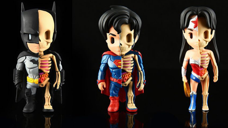 XXRAY Superman, Batman, Wonder Woman