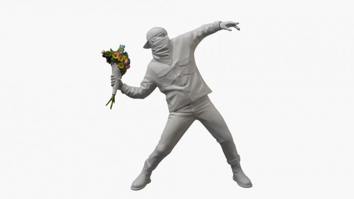 Medicom x Banksy's Flower Thrower Vinyl Art Toy