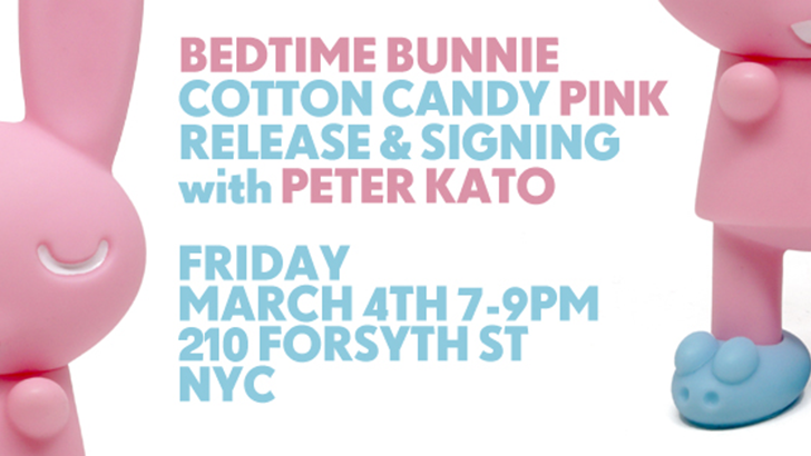 Bedtime Bunnie Cotton Candy Pink Release & Signing