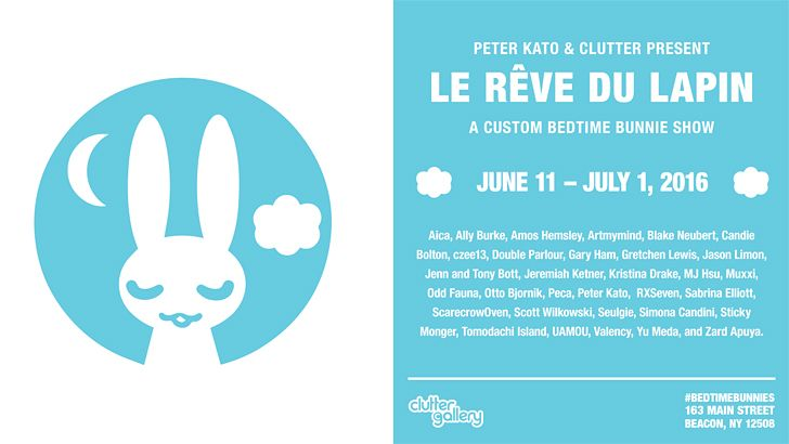 "Clutter Gallery Presents: ""Le Rêve du Lapin"", a Bedtime Bunnie Custom Show!"