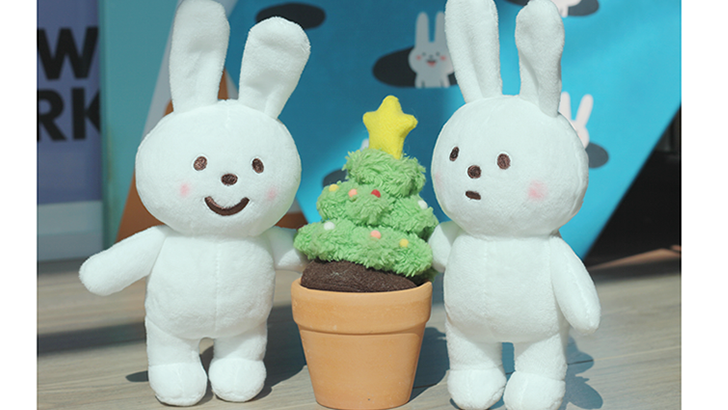 Fluffy House Naughty Rabbit Plush Pair