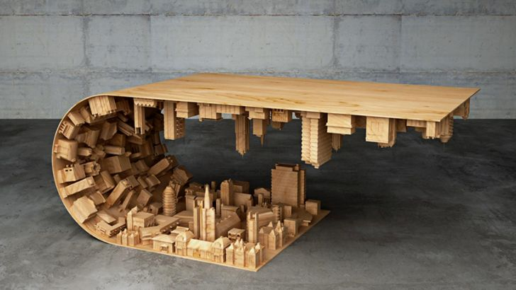 Wave City Inception Coffee Table by Stelios Mousarris
