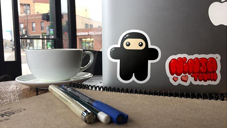 Ninjatown Sticker Club Kickstarter