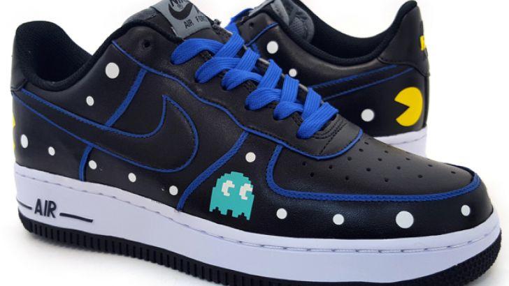 Custom Pac-Man Nike Air Force 1 Low Sneakers by Sekure D