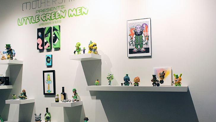 Little Green Men at Mothership Gallery Roundup